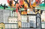 city of Rijeka on fire 1943